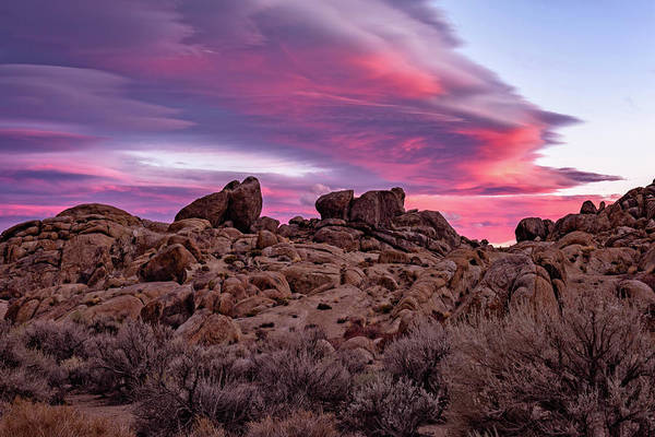 Photograph - Sierra Clouds At Sunset by John Hight