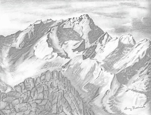 Sierra Mt's Art Print