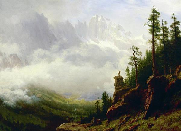 Sierra Nevada Painting - Sierra Nevada Mountains In California by Albert Bierstadt