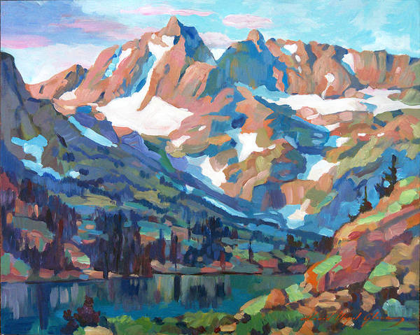 Mountain Lake Painting - Sierra Nevada Silence by David Lloyd Glover