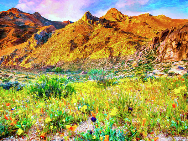 Painting - Sierra Nevada Wildflowers by Dominic Piperata