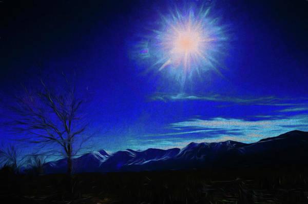 Digital Art - Sierra Night by Richard Ricci