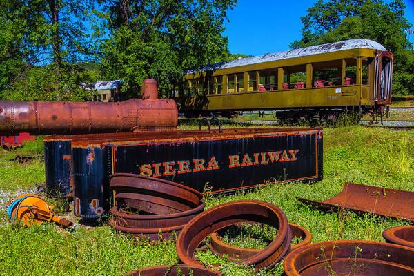 Passenger Car Photograph - Sierra Railway Boneyard by Garry Gay