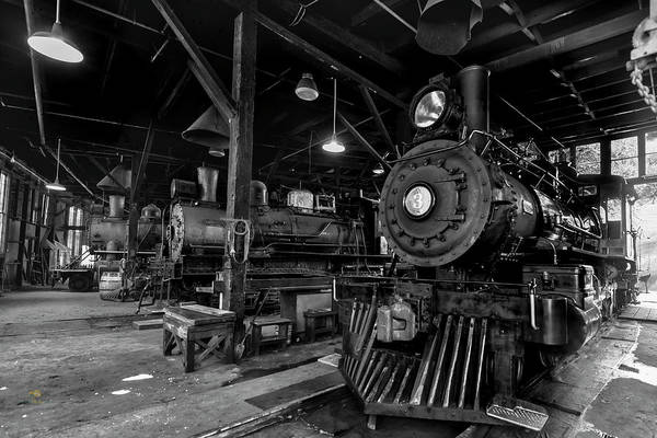 Photograph - Sierra Railway Locomotives No. 3, No. 2, And No. 34 by Jim Thompson