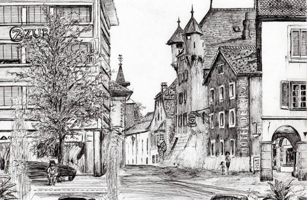 Structure Drawing - Sierre, Switzerland by Vincent Alexander Booth