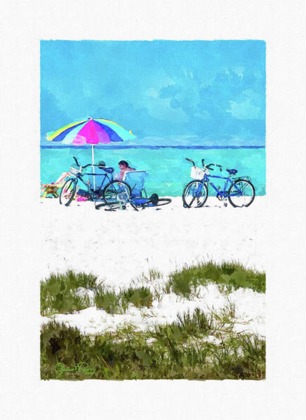 Siesta Key Beach Bikes Art Print
