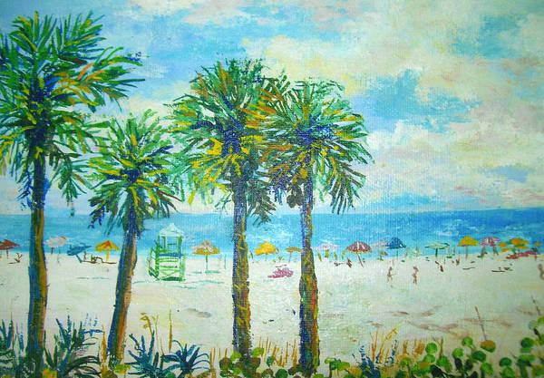 Wall Art - Painting - Siesta Key Beach by Lou Ann Bagnall