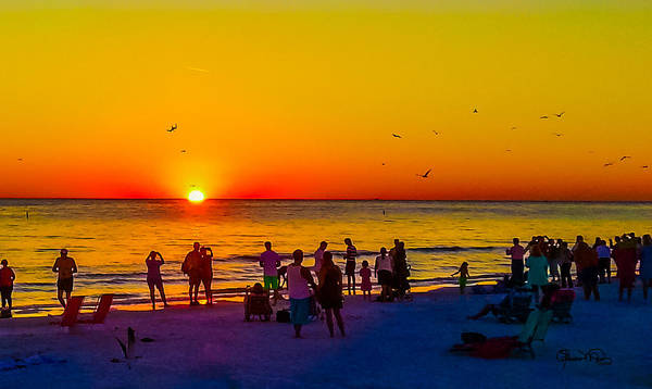 Photograph - Siesta Key Drum Circle Sunset 1 by Susan Molnar
