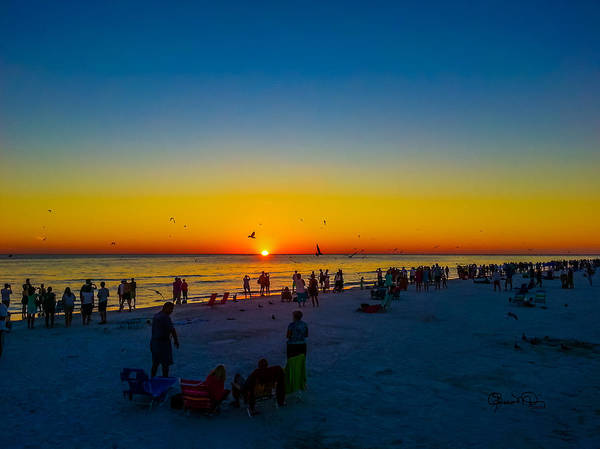 Photograph - Siesta Key Drum Circle Sunset 2 by Susan Molnar