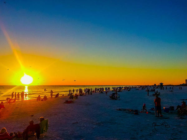 Photograph - Siesta Key Drum Circle Sunset 3 by Susan Molnar