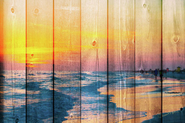 Photograph - Siesta Key Sunset Walk - Wood Plank by Susan Molnar