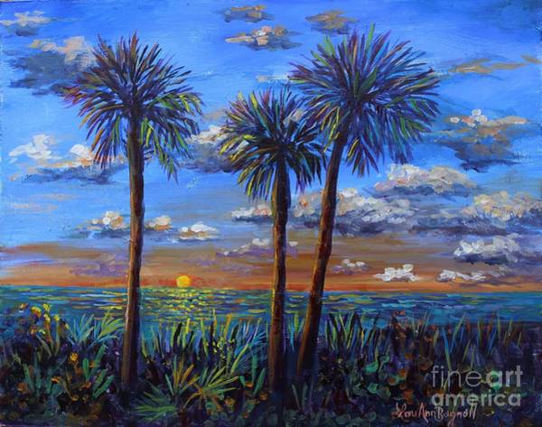 Wall Art - Painting - Siesta Summer Sunset by Lou Ann Bagnall