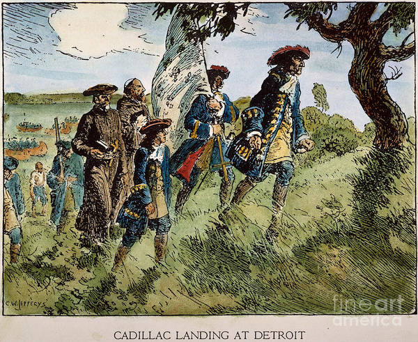 Painting - Sieur De Cadillac by Granger