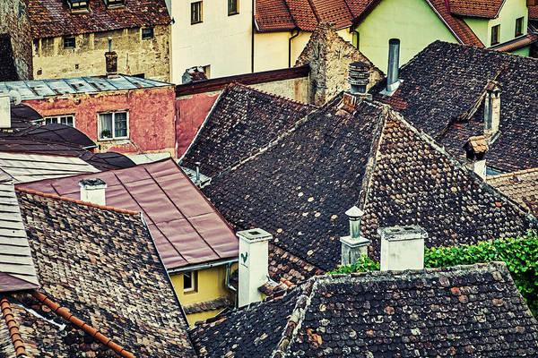 Photograph - Sighisoara Rooftops - Romania by Stuart Litoff
