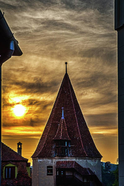 Photograph - Sighisoara Sunset - Romania by Stuart Litoff
