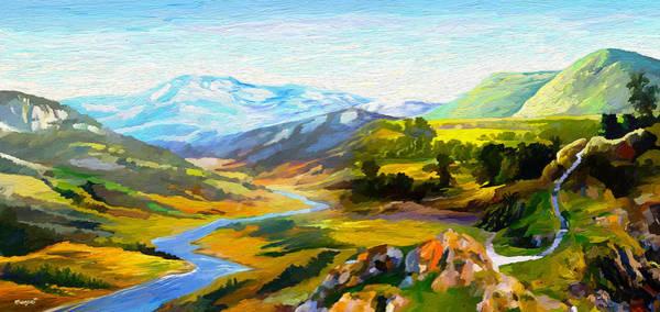 Blue Cornflower Painting - Sights And Sounds by Anthony Mwangi