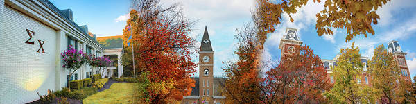 Photograph - Sigma Chi University Of Arkansas Autumn Panorama by Gregory Ballos