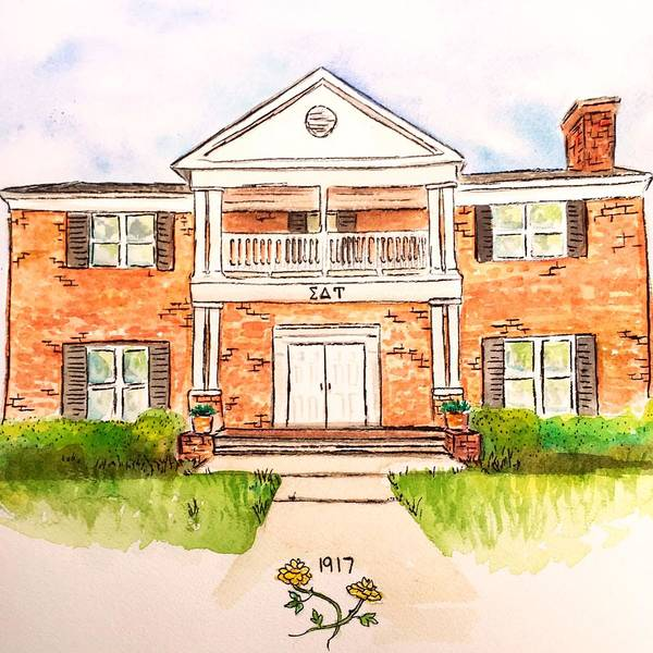 Wall Art - Painting - Sigma Delta Tau by Starr Weems