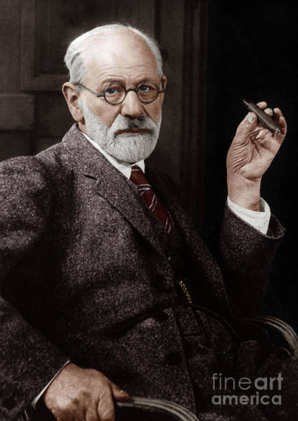 Colorized Photograph - Sigmund Freud Austrian Neurologist And Psychoanalyst In 1926 by French School