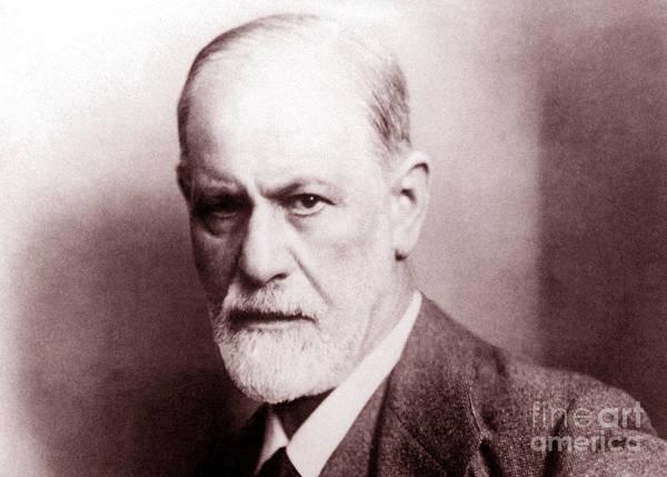 Wall Art - Photograph - Sigmund Freud, Austrian Neurologist by English School