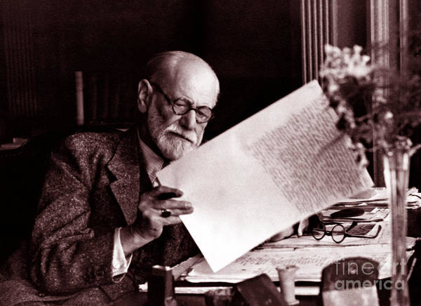 Wall Art - Photograph - Sigmund Freud In His Office, Circa 1930 by English School