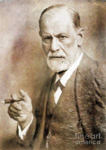 Poetry Painting - Sigmund Freud, Neurologist By Mary Bassett by Mary Bassett