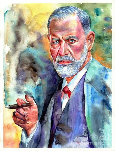Souvenirs Painting - Sigmund Freud Painting by Suzann Sines