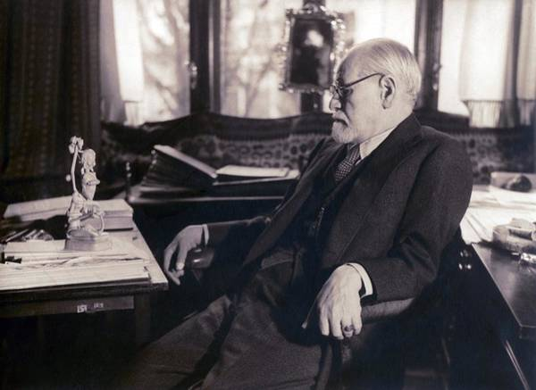 Psychiatry Photograph - Sigmund Freud Seated In His Study by Everett