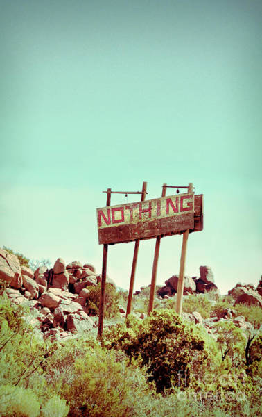 Middle Of Nowhere Photograph - Sign For Nothing by Jill Battaglia