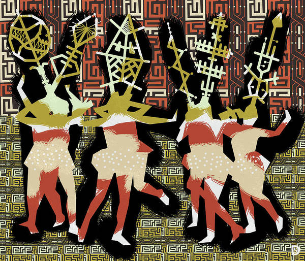 Tribal Dance Digital Art - Sign Language by Darwin Stead