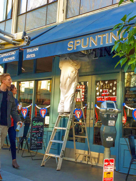 Photograph - Sign Painter At Spuntino by Bonnie Follett
