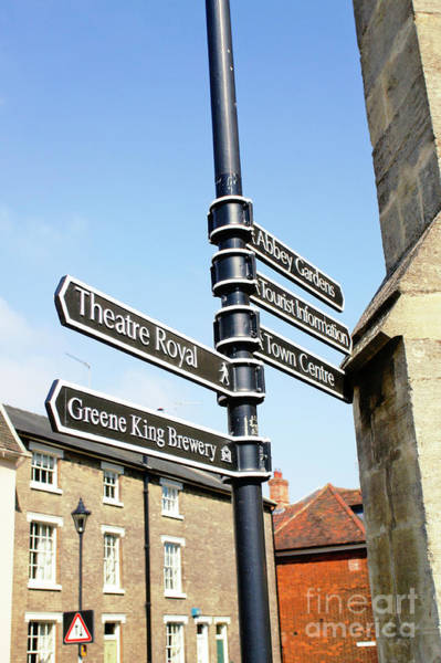 Wall Art - Photograph - Sign Posts In Bury St Edmunds by Tom Gowanlock