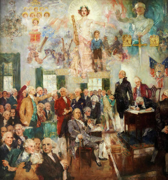 Howard Painting - Signing Of The Constitution by Howard Chandler Christy