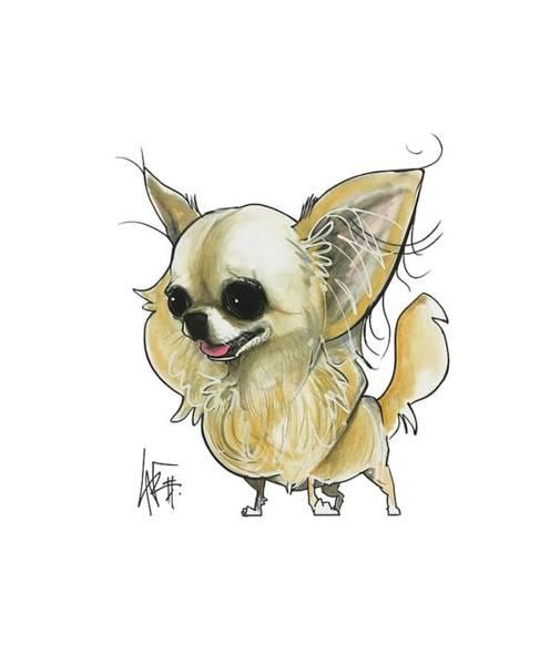 Pet Portrait Drawing - Signoriello 2217-2 by John LaFree