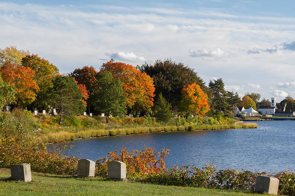 Photograph - Signs Of Autumn In The Cemetery  by Kirkodd Photography Of New England