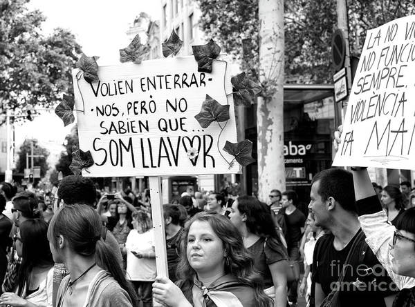 Photograph - Signs Of Protest In Barcelona by John Rizzuto