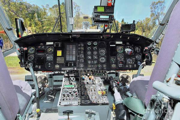 Wall Art - Photograph - Sikorsky S-64 E Cockpit by Rick Mann