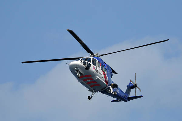 Photograph -  Sikorsky S-76a Bristow Air Logistics Helicopter by Bradford Martin