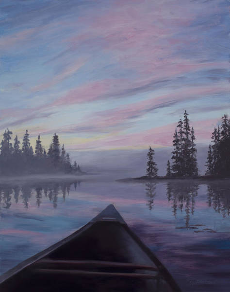 Loon Painting - Silence  by Mary Giacomini