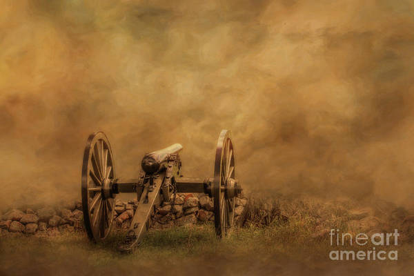 Silent Cannon At Gettysburg Five Art Print