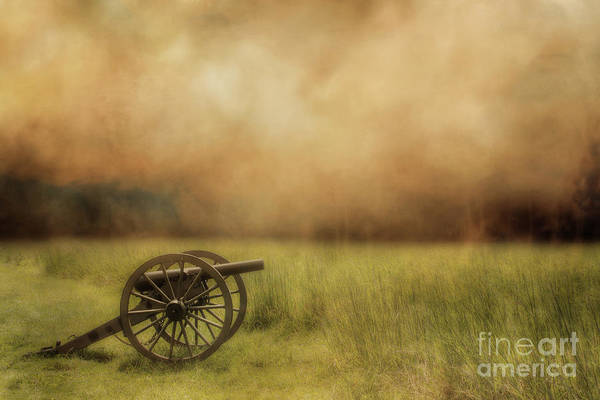 Silent Cannon At Gettysburg Three Art Print
