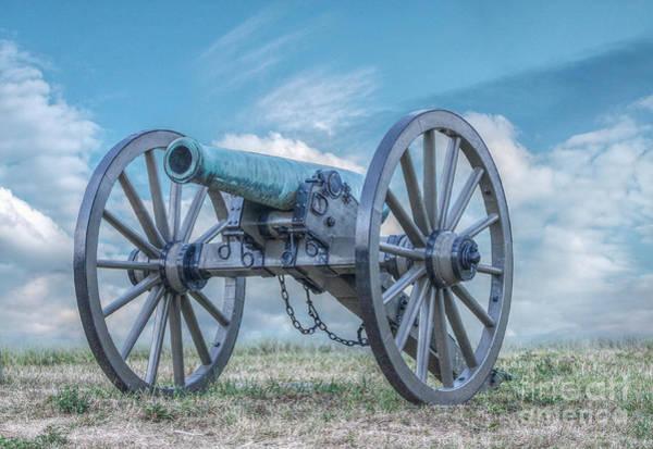 Cemetery Ridge Photograph - Silent Civil War Cannon Gettysburg by Randy Steele