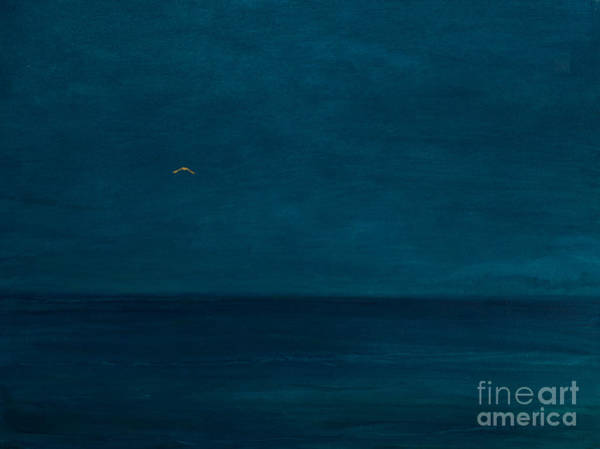 Darkness Painting - Silent Flight, 2016 Oil And Gold Leaf On Panel by Angus Hampel