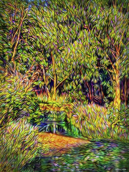 Digital Art - Silent Forest Stream by Joel Bruce Wallach