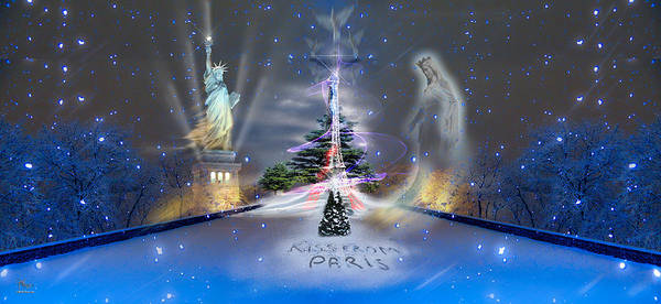 Photograph - Silent Night  A Kiss From Paris And Back by Glenn Feron