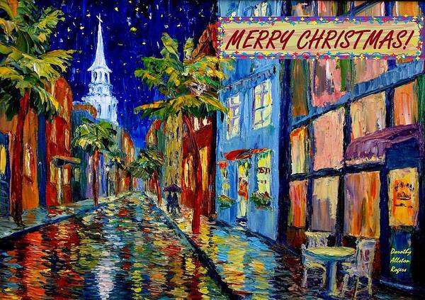 Silent Night Christmas Card Art Print
