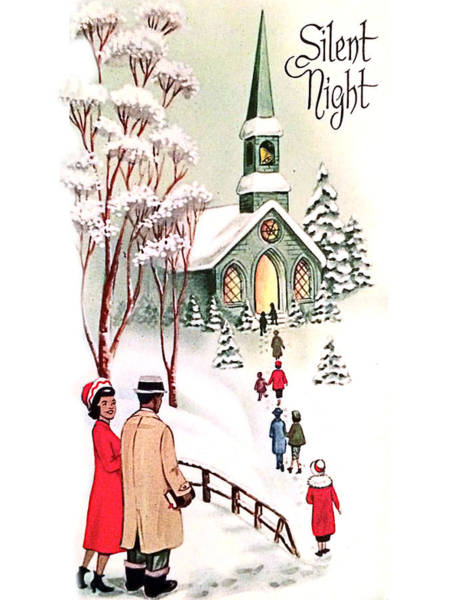 Silent Painting - Silent Night, Christmas Greeting Card by Long Shot
