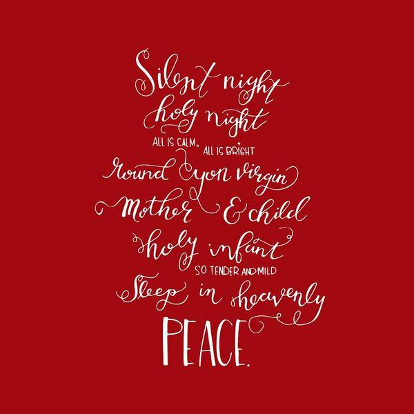 Drawing - Silent Night Holy Night by Nancy Ingersoll