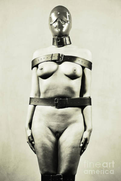 Photograph - Silent - Nude Woman In Bdsm Fetish Style by William Langeveld