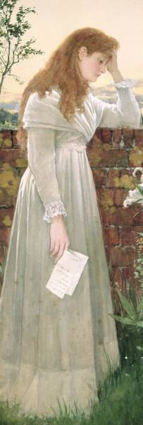 Sad Painting - Silent Sorrow by Walter Langley